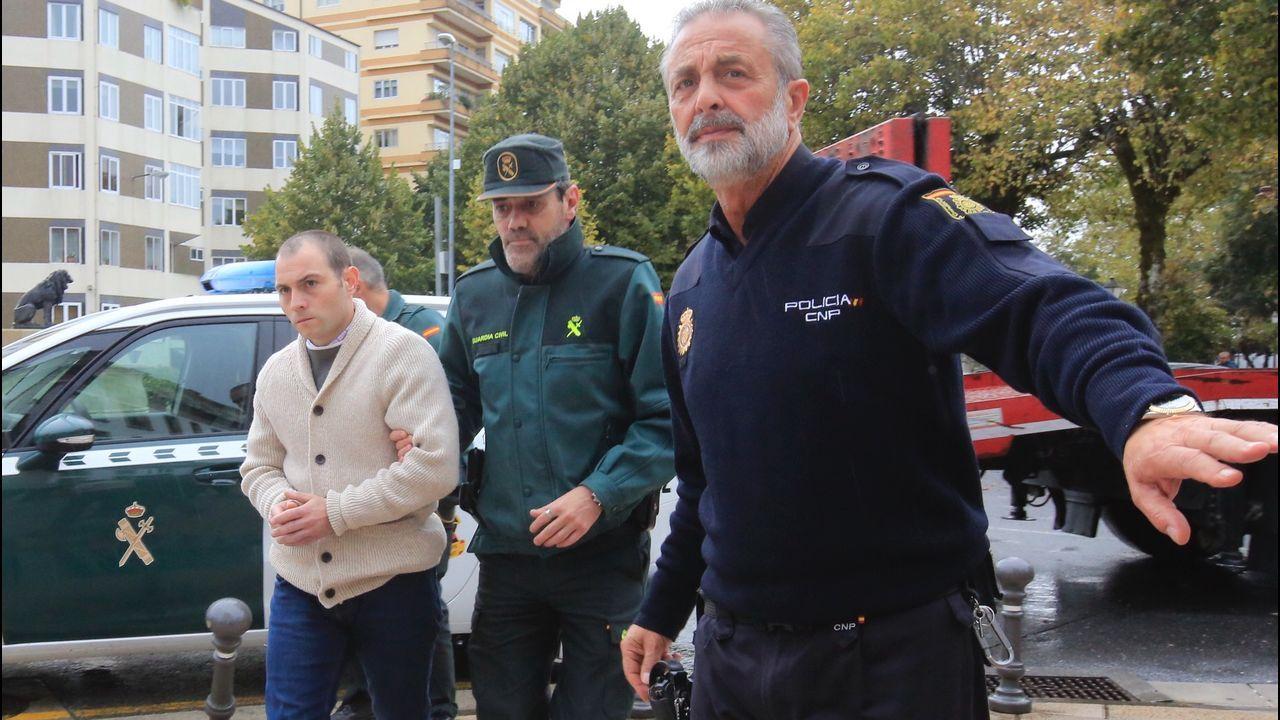 Llegada de «O Chamaco» a la Audiencia de Lugo