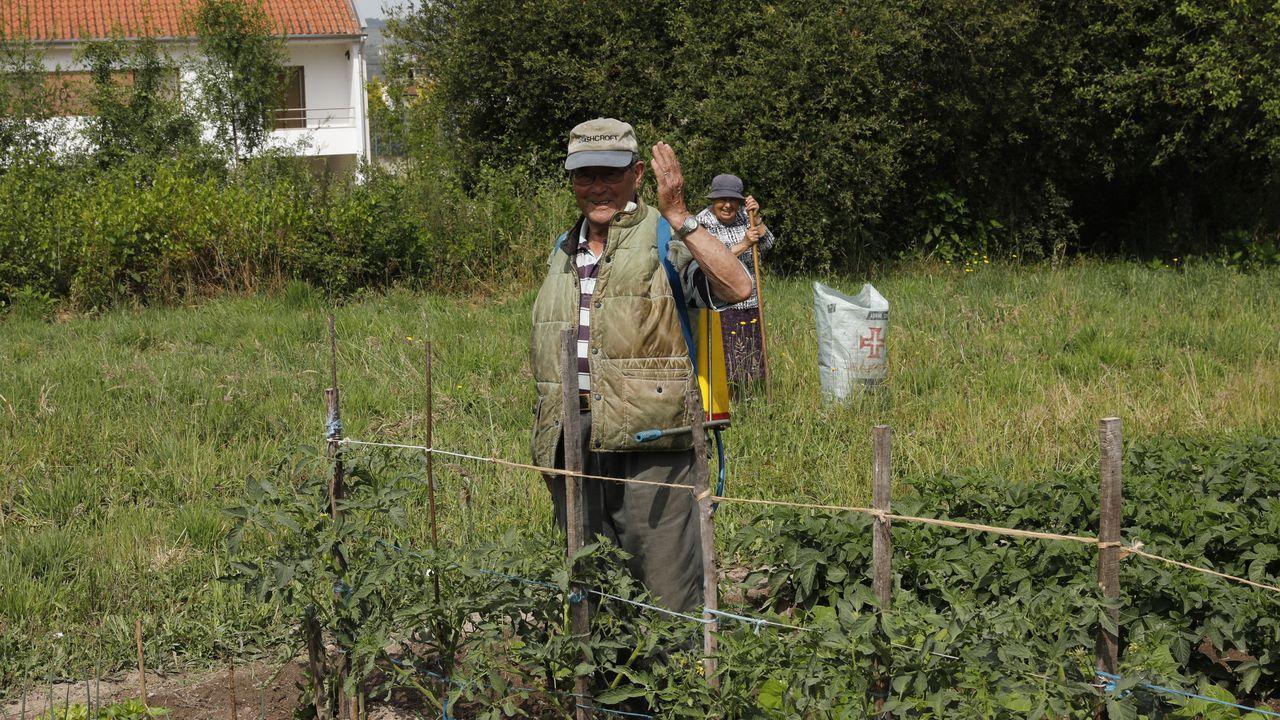 Controles en la frontera con Portugal en Feces.Vecinos de Vilarelho da Raia, Portigal, trabajando terrenos en España