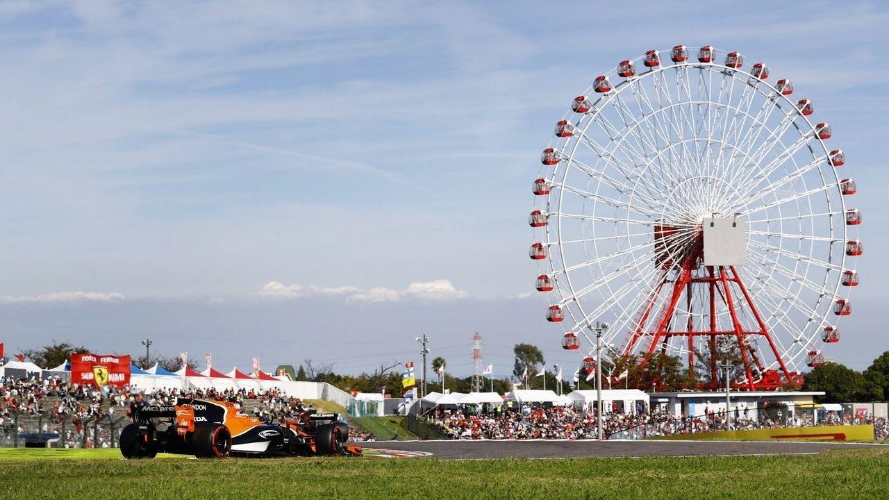 El Gran Premio de Formula uno de México en imágenes.EL McLaren de Fernando Alonso, en Suzuka