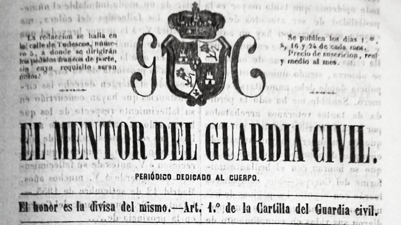 Ejemplar de la publicación donde se habla de la epidemia de mediados del XIX