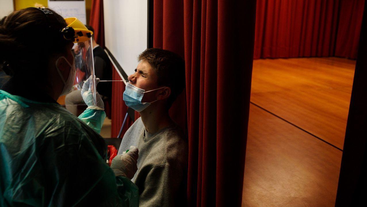En el IES Alfonso X O Sabio de CAmbre se realizó un cribado mediante PCR a 730 personas entre alumnos y personal