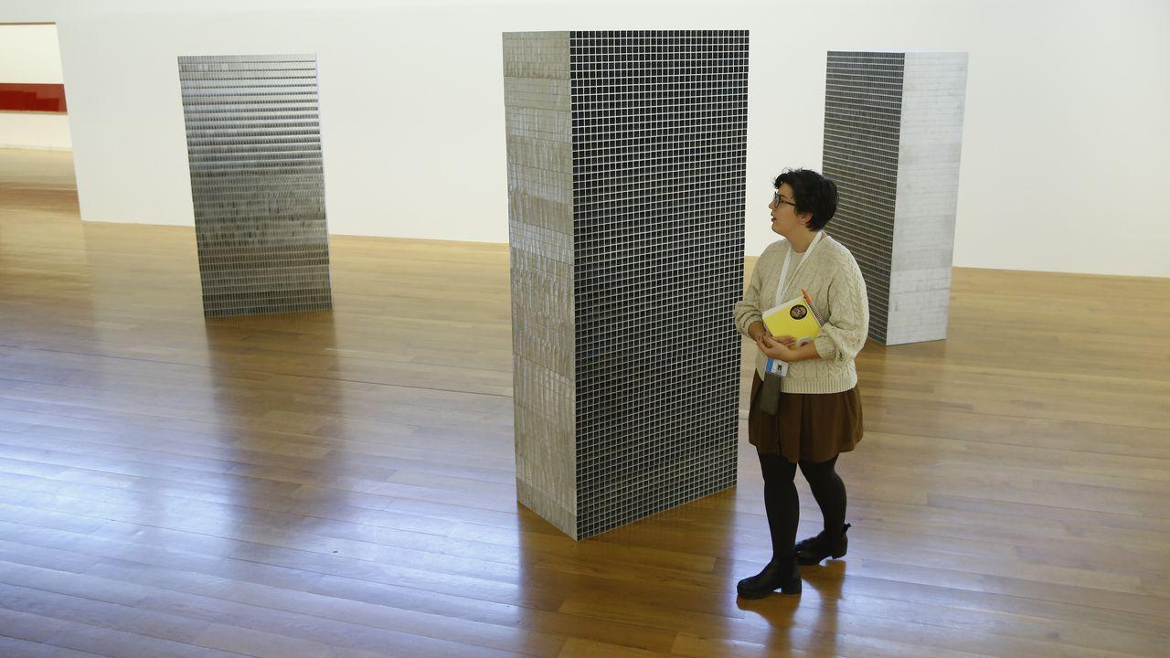 Una de las piezas que conforman la exposición de Cabrita Reis en el museo compostelano