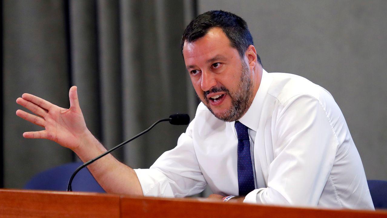 Matteo Salvini, tras reunirse el lunes con los agentes sociales para negociar los presupuestos del 2020