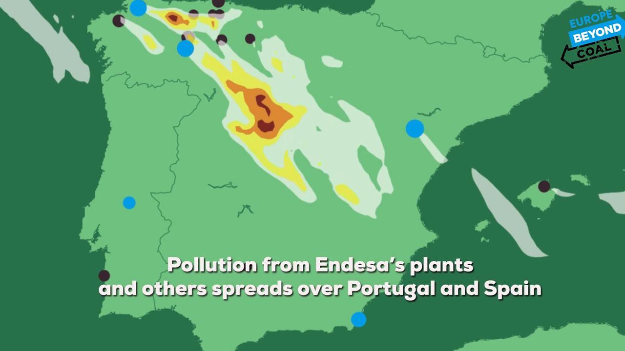 El mapa de la contaminación del carbón en Europa