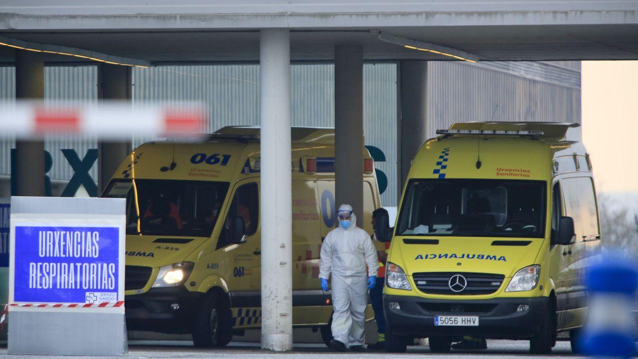 Entrada de Urgencias en el Hospital de Lugo
