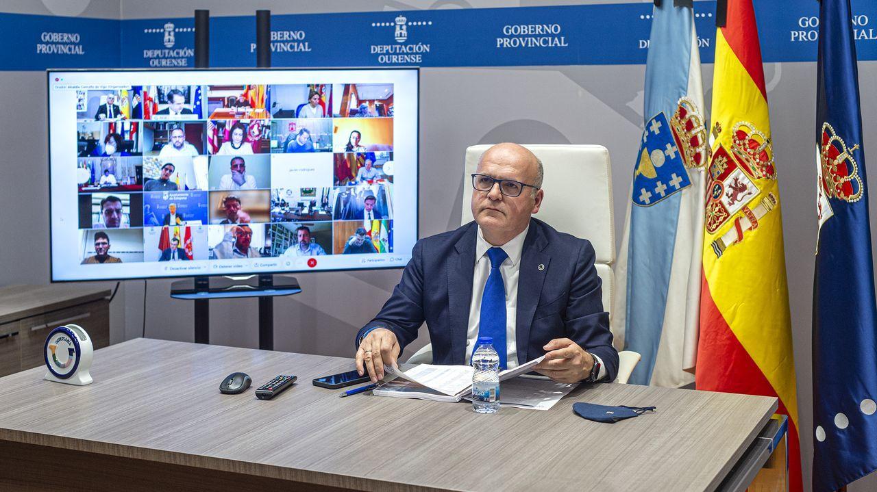 José Manuel Baltar, en la reunión telemática de la FEMP