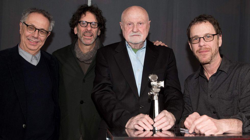 Dieter Kosslick, Ben Barenholtz, Joel Cohen y Ethan Coen