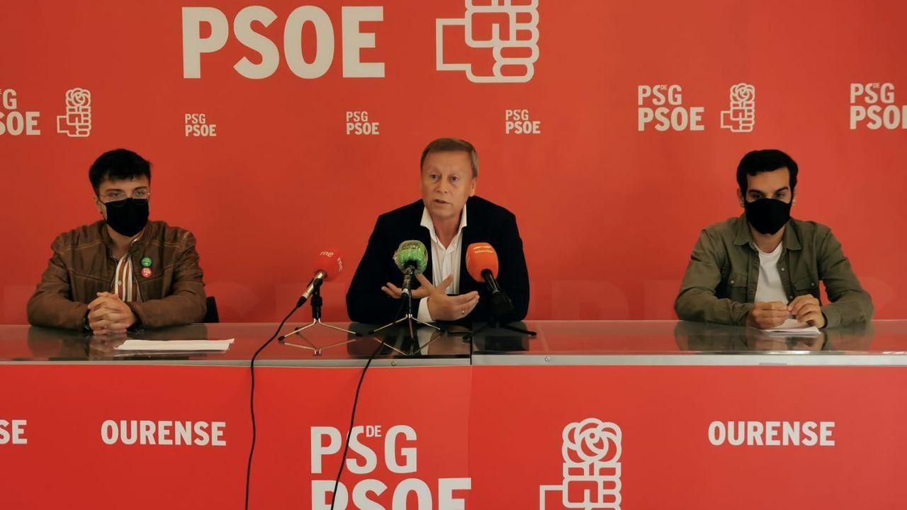 Xurxo Doval, Rafael Rodríguez Villarino y Borja López (PSOE)