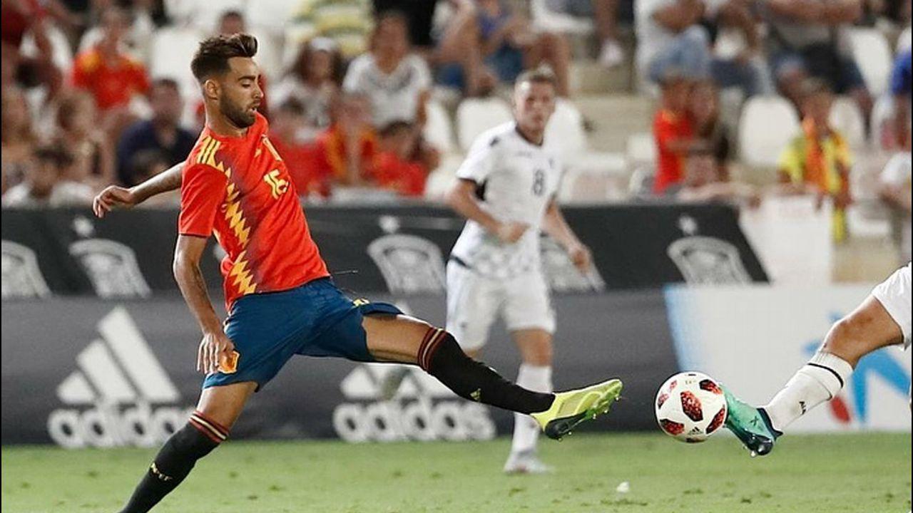 Brais Méndez. Ya es internacional absoluto y sería pieza clave del equipo olímpico de fútbol, que es de categoría sub-23