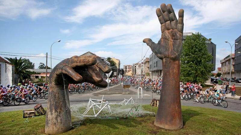Una flor como reclamo turístico.El domingo 25 de agosto, la segunda etapa de la Vuelta a España parte de Pontevedra.