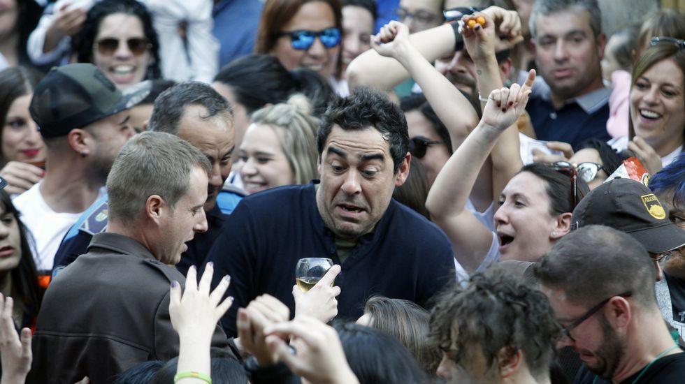 El pregón de Pablo Chiapella: las fotos de la fiesta.Visitantes ante el gran mazo hidráulico de la ferrería en una de las escasas ocasiones en las que se han realizado visitas guiadas en el histórico edificio