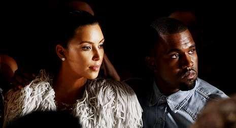 Kardashian, con su pareja, Kanye West.