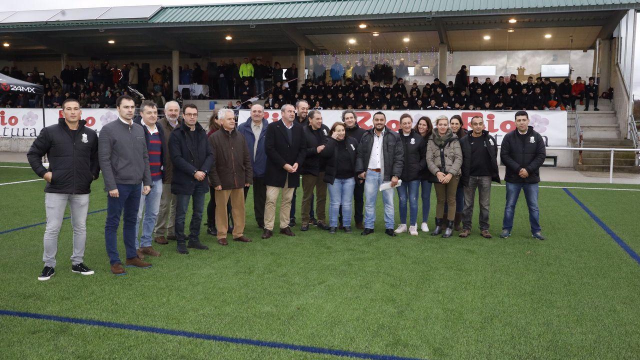 Inauguración del nuevo campo de fútbol de O Corgo