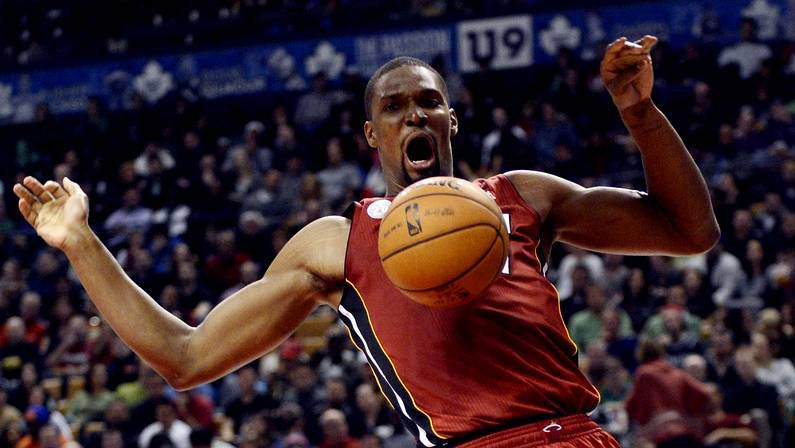 Chris Bosh, en la victoria de Miami Heat sobre Toronto