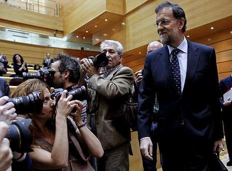 Mariano Rajoy, ayer a su llegada al Senado para la sesión de control al Gobierno.