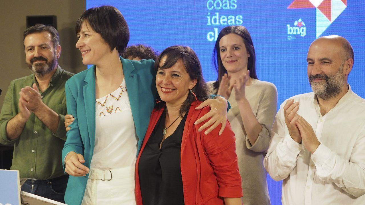 Ana Pontón, con Ana Miranda, tras conocer los resultados de las municipales y europeas