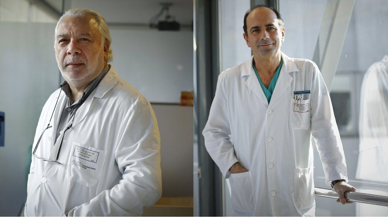 Accidente mortal en el peaje de Guísamo.Luis Antón Aparicio, jefe de Oncología del Chuac, y Venancio Chantada Abal, jefe de Urología