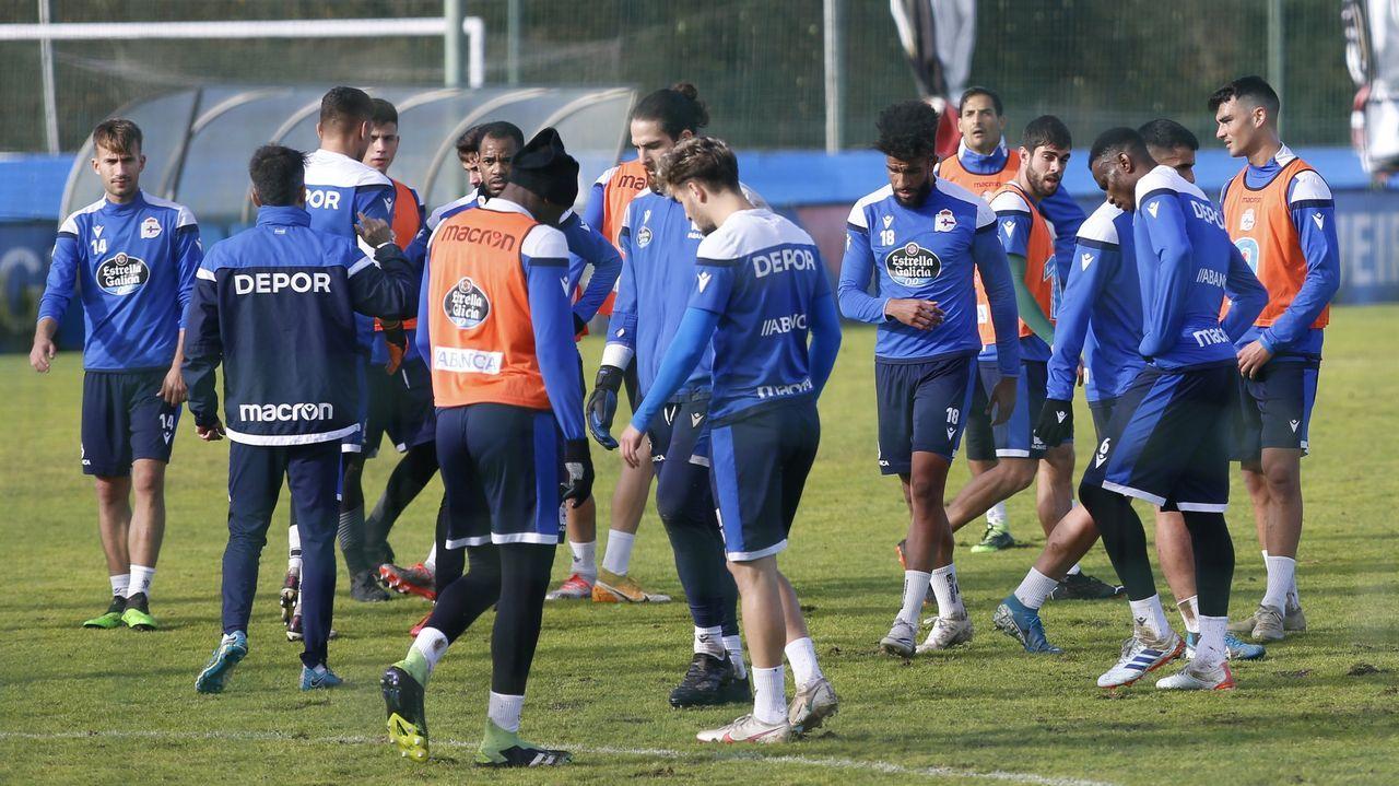 Diego Rolan, con el Deportivo
