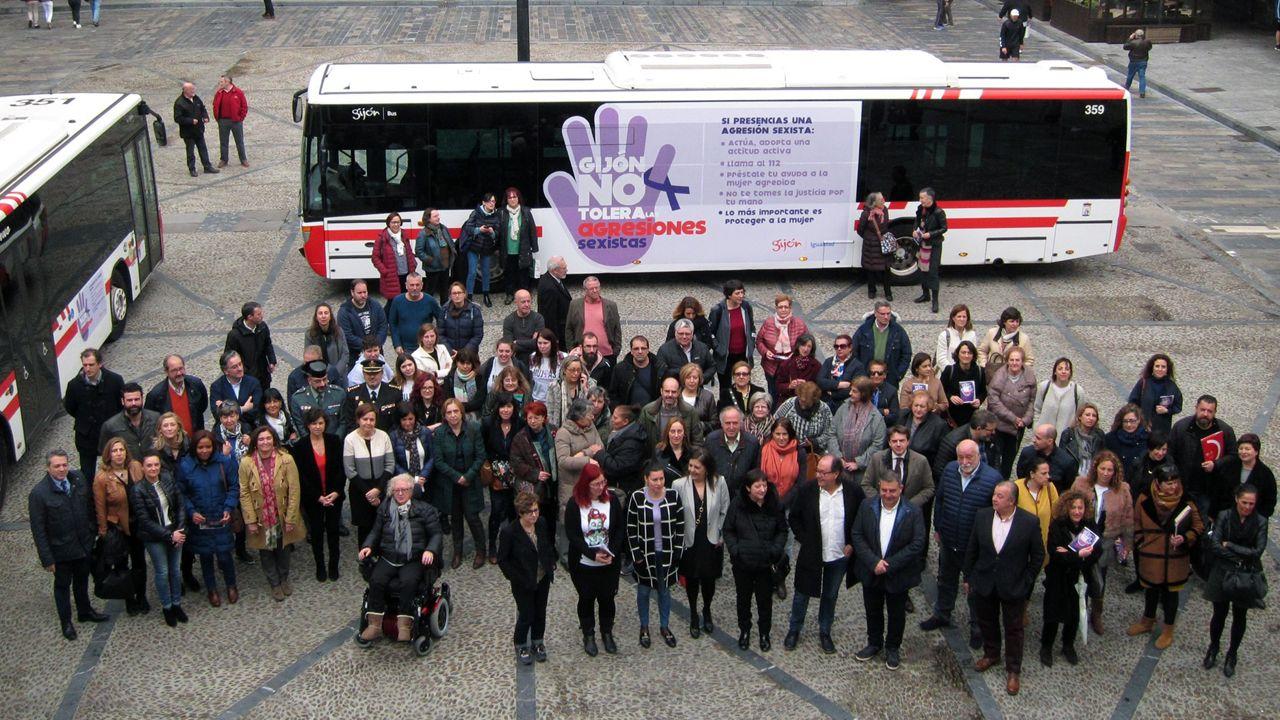 Imagen de la nube de contaminación en Gijón tomada por la Coordinadora Ecologista.Gijón presentó el Protocolo contra las Agresiones Sexistas en espacios de ocio