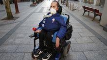 Francisco Díaz tiene 35 años y necesita la asistencia de un respirador