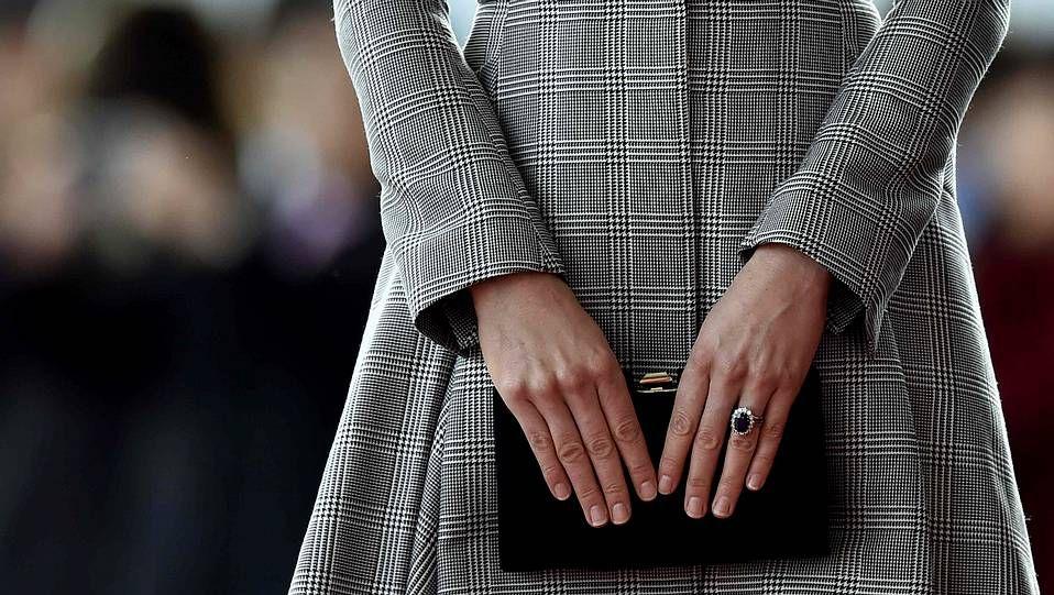 Recepción oficial en Londres.La duquesa de Cambridge en su último acto oficial.