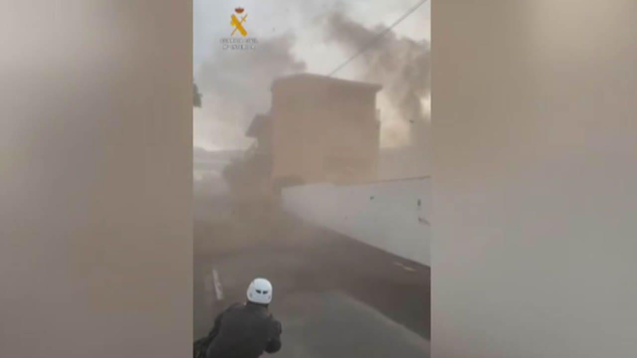 Un guardia civil en mitad de un tornado en La Palma: «Fueron los cinco segundos más largos de mi vida»