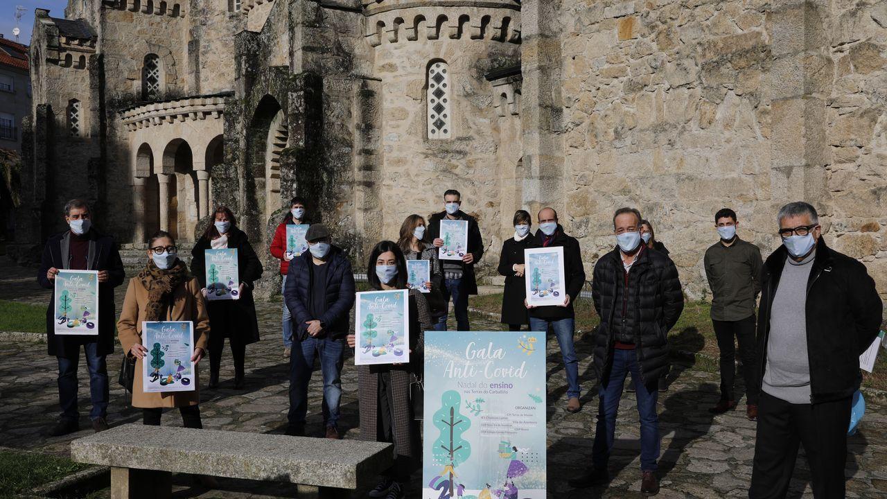 Las imágenes del partido entre el Ribadumia y el Arenteiro.Imagen de archivo de un control policial en la carretera que une Monforte y Ourense