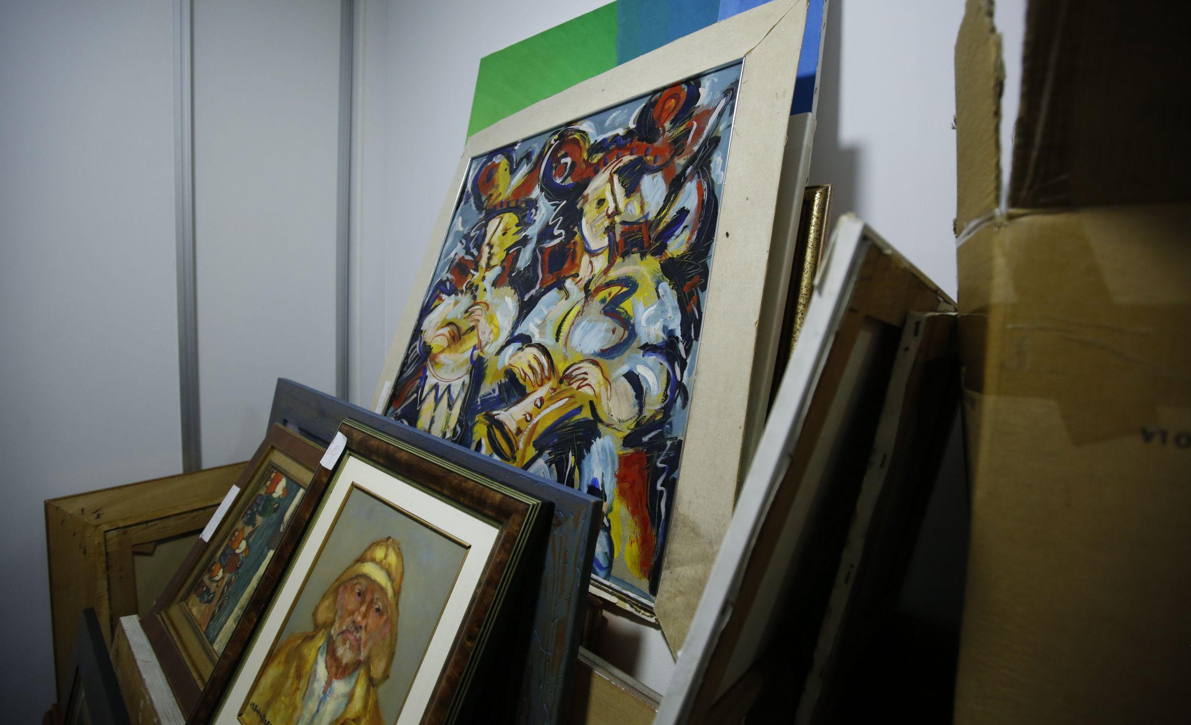 Entre los cuadros decomisados hay autores de la pintura gallega tan relevantes como Quesada o Laxeiro