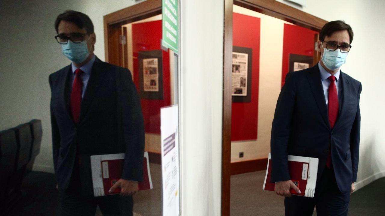 Iceta y Darias juran sus cargos como nuevos ministros.Pedro Sánchez durante la celebración del 120 aniversario de la FSA