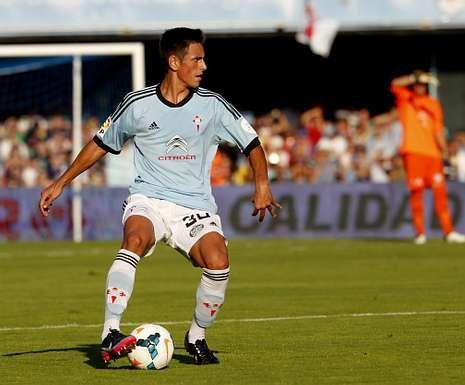 David Costas fue titular en Balaídos en el partido frente al Granada.