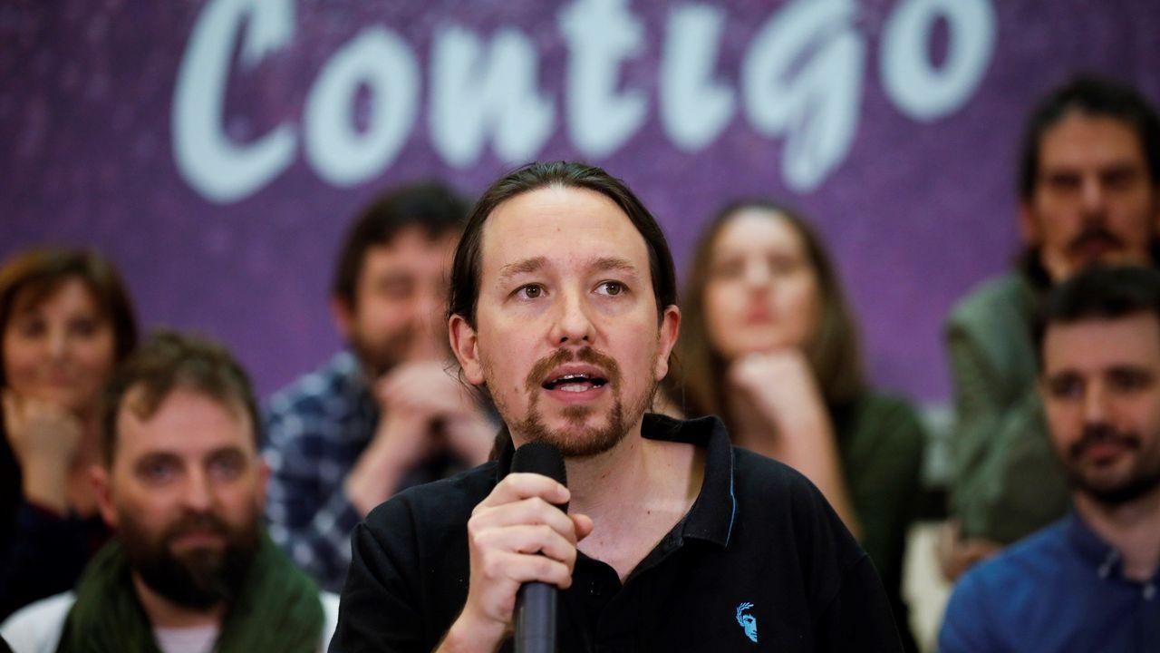 Pablo Iglesias, durante la presentación del nuevo equipo que dirigirá Podemos tras Vistalegre III
