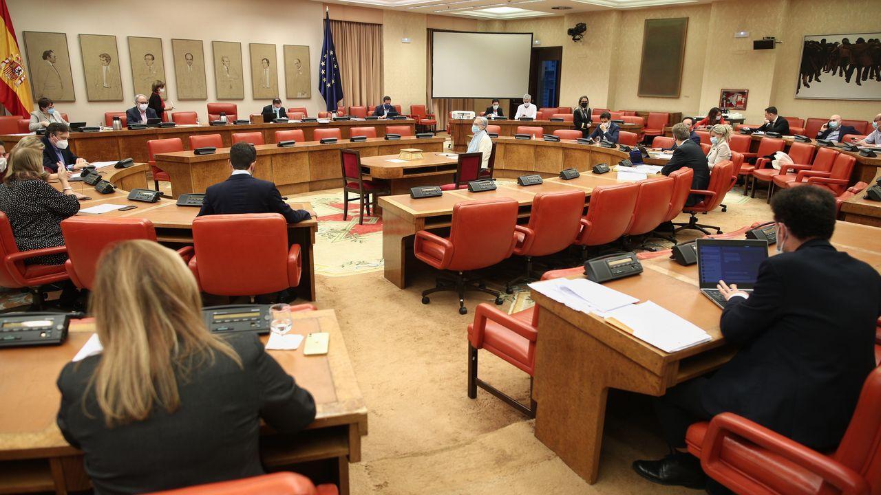Vista general de la Comisión de Presupuestos celebrada en el Congreso