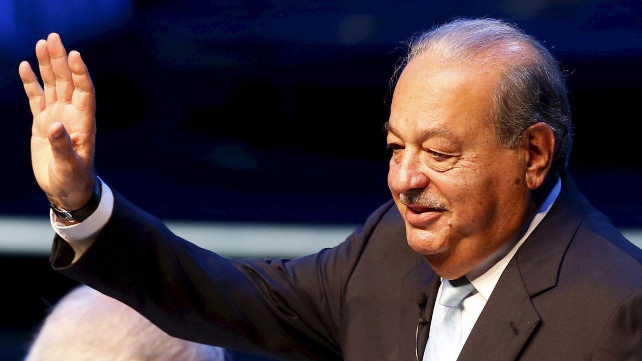 5. El magnate mexicano Carlos Slim, dueño de la empresa de telecomunicaciones más importante de Latinoamérica, suma 64.000 millones de dólares