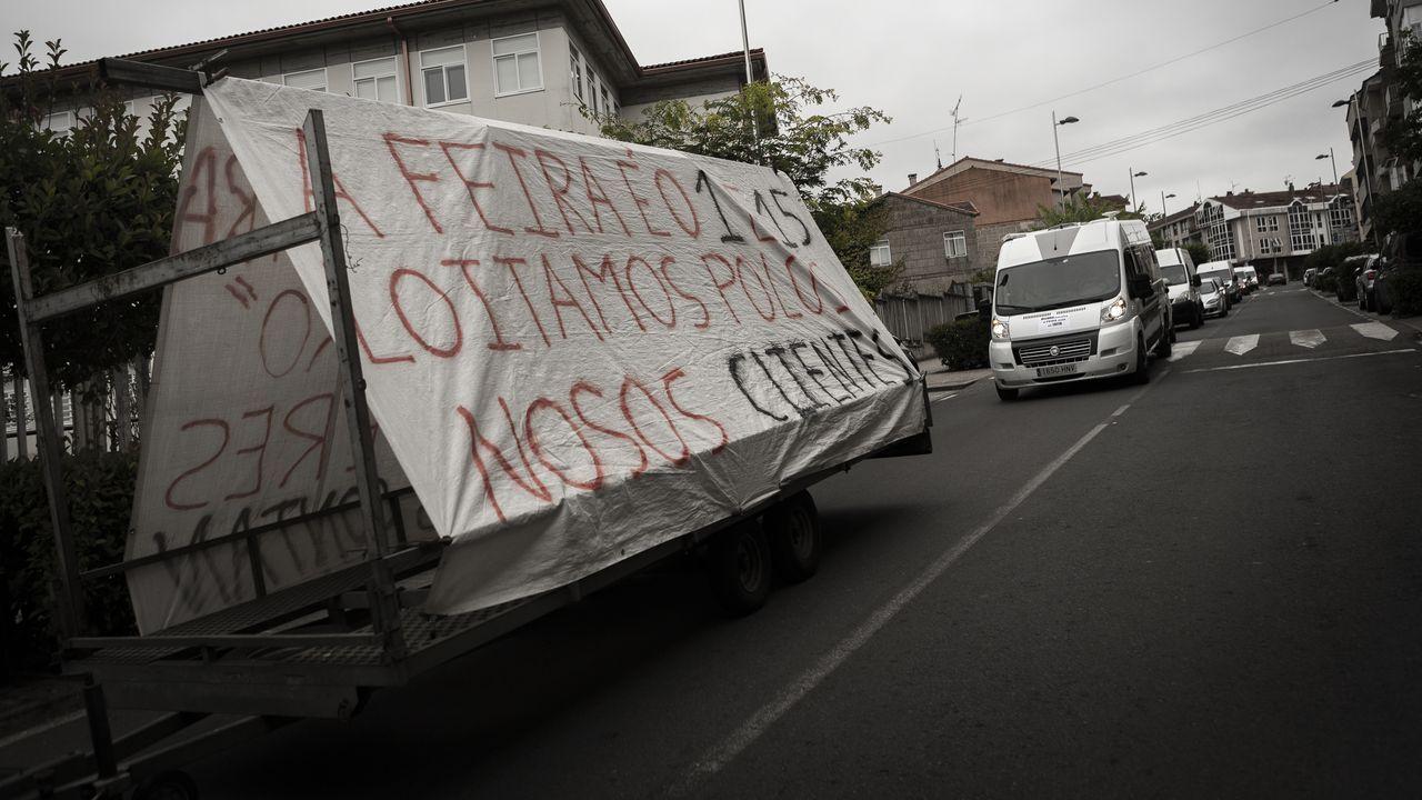 Protesta de los feriantes de Allariz