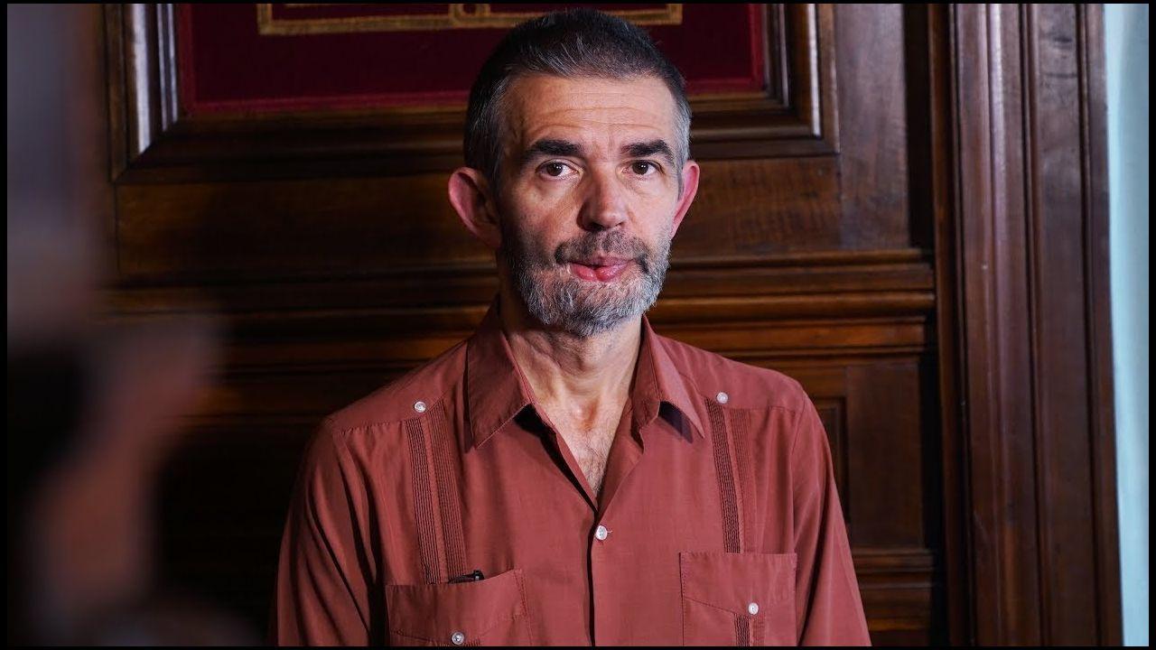 Philippe Lançon, durante una reciente entrevista que concedió a la Casa de América, en Madrid