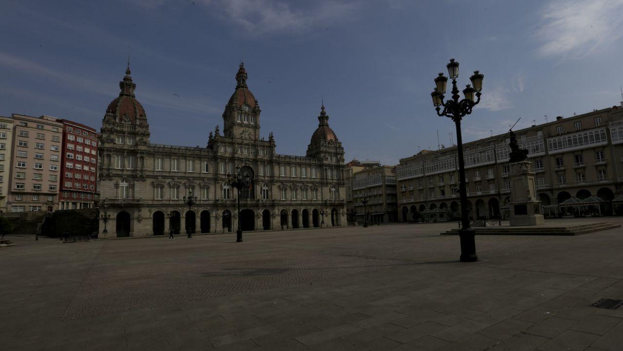 Praza de María Pita (A Coruña).