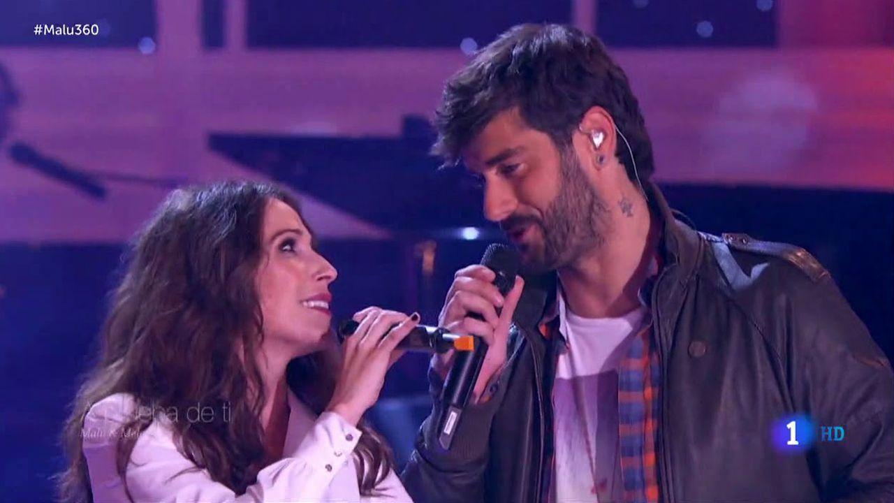 Pablo Castiñeira canta en «La Voz Kids» «Sweet child of mine».Malú y Melendi en una gala de Nochebuena