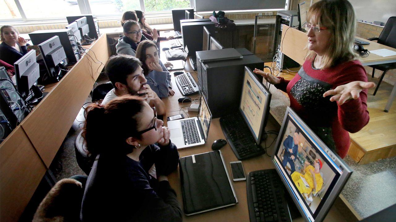 Aula de la Facultad de Traducción e Interpretación de la Universidad de Vigo
