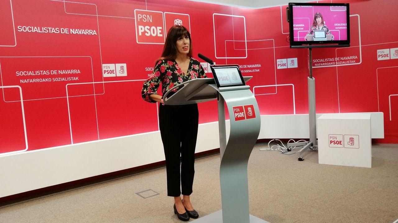 La portavoz del PSOE navarro en el Ayuntamiento de Pamplona, Maite Esporrín