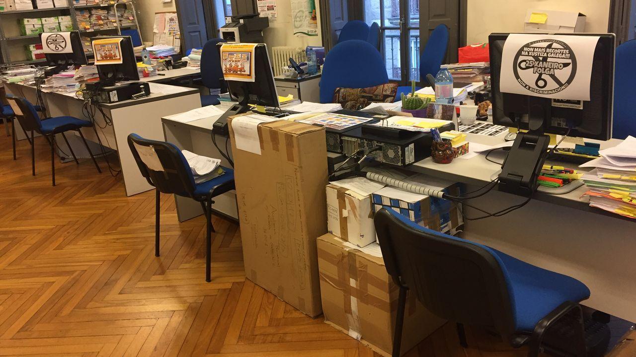 La huelga en la Xustiza obliga a suspender el juicio por las filtraciones en la Guardia Civil de Pontevedra