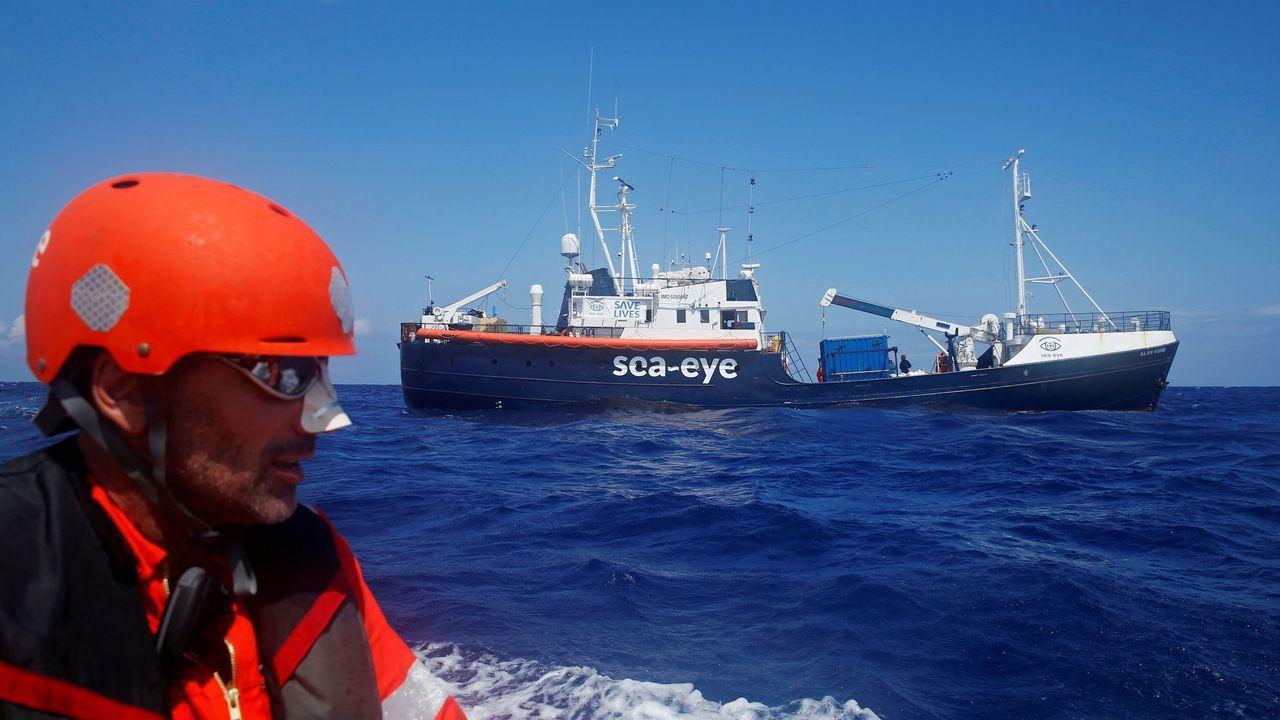 La pandemia en el mundo, en imágenes.El barco Alan Kurdi