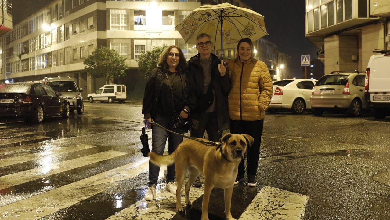 Protesta contra la caza con galgos y otras razas en Gijón