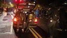 Manifestantes armados en una protesta en Portland en la noche electoral