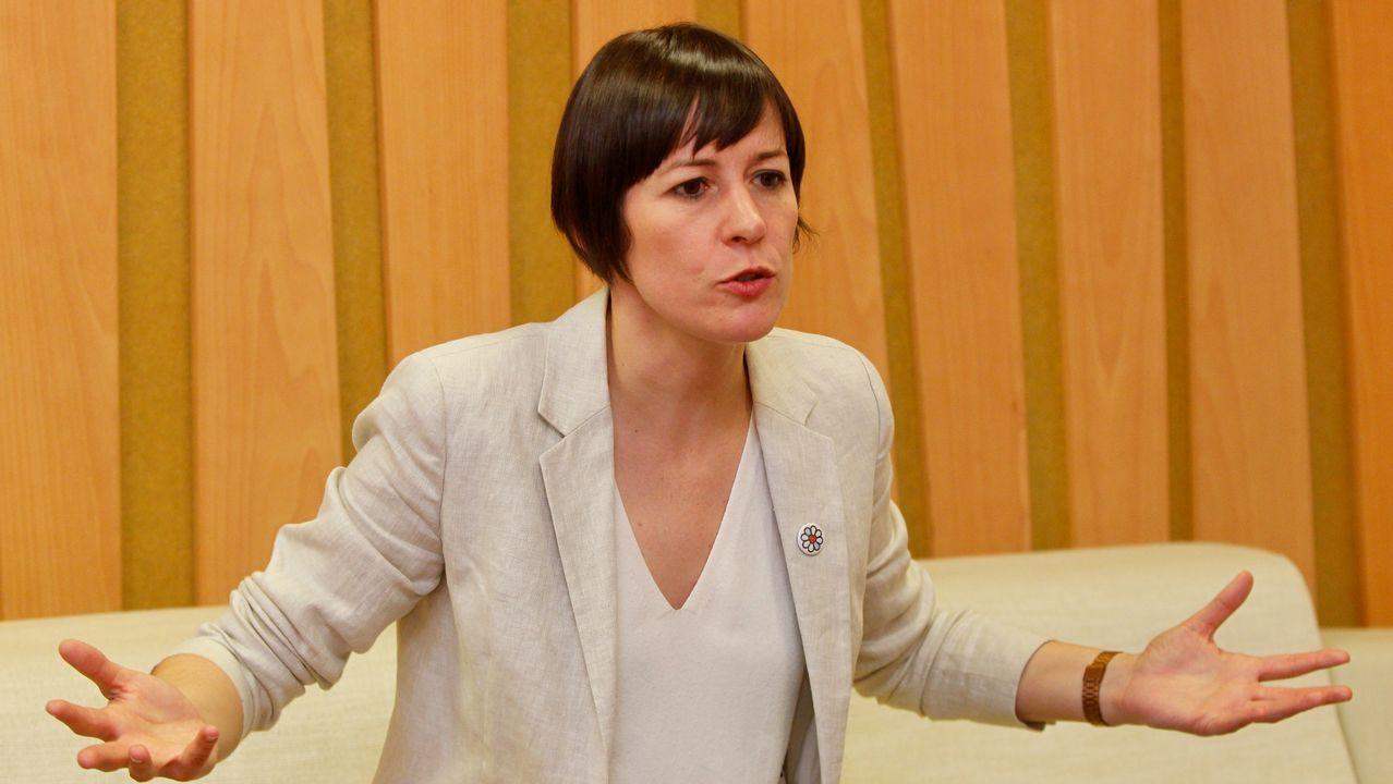 Ana Pontón, voceira do BNG, nunha imaxe tomada durante a entrevista