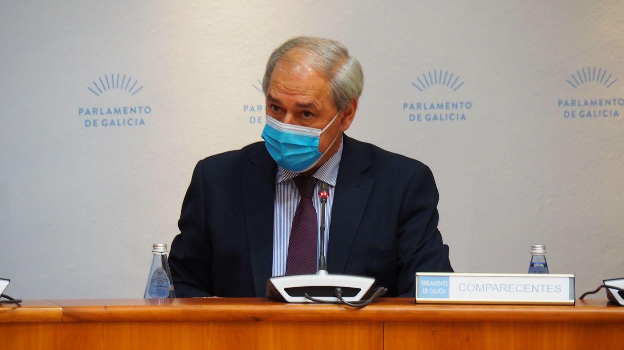 José Tomé, presidente de la Diputación de Lugo, el día que presentó los presupuestos de ese organismo provincial en el Parlamento gallego
