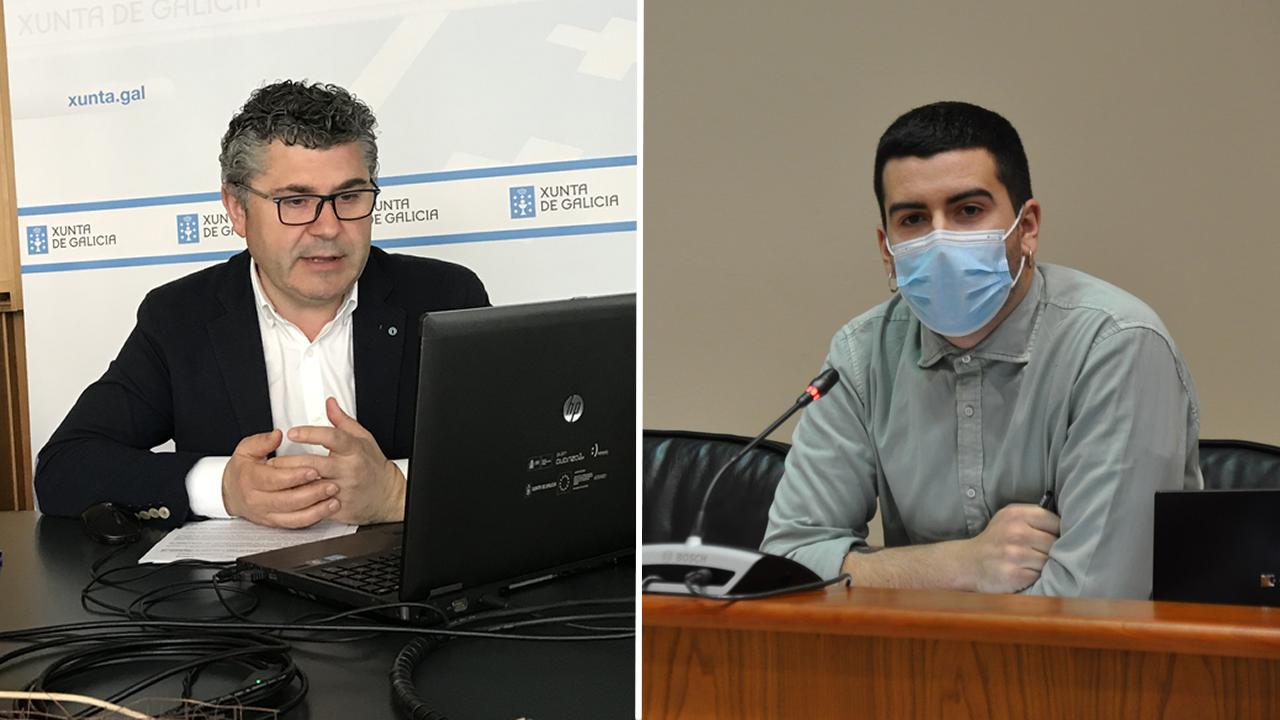 A la izquierda Ovidio Rodeiro, del PPdeG. A la derecha, Daniel Castro, del BNG