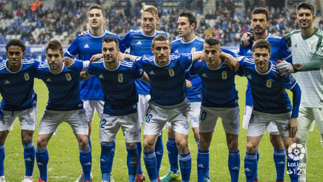 Alineación del Real Oviedo ante el Tenerife