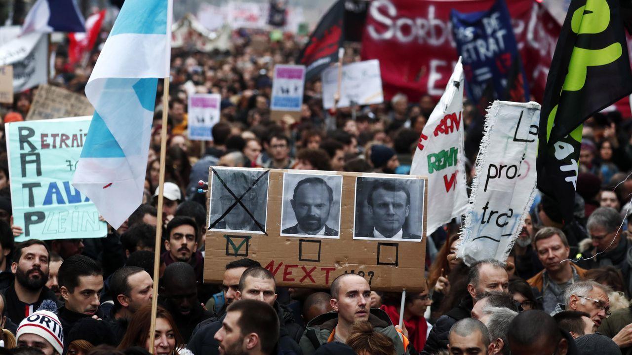 La manifestación transcurrió desde  la plaza de la República a la de Bastilla, con incidentes leves al final del día