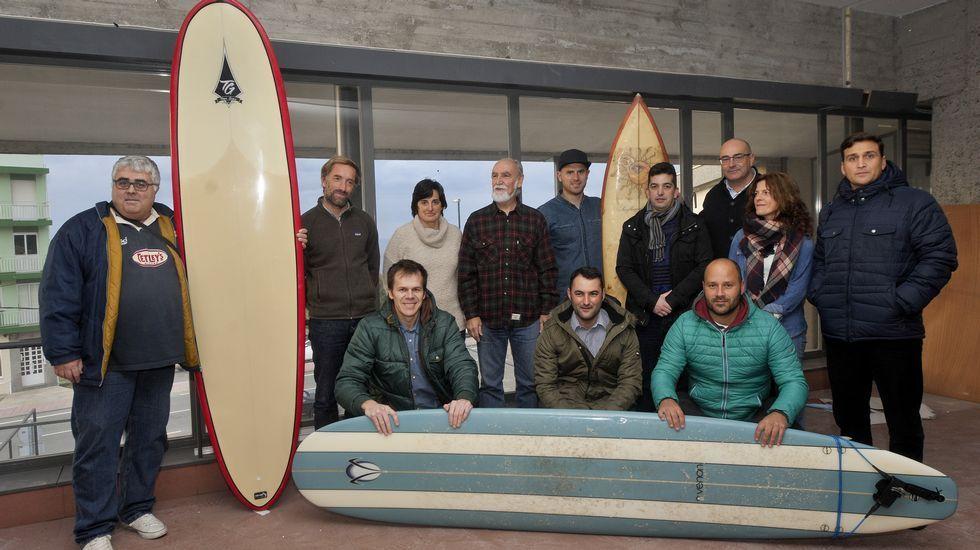 Luis Díaz, en un momento de la Siroko Surf League