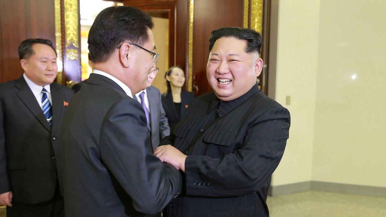 Kim Jong-un recibe a una delegación de Corea del Sur